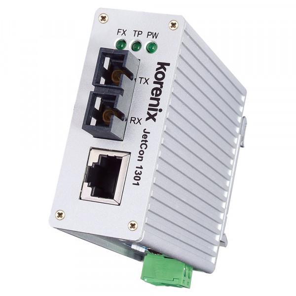 JetCon 1301-s Slim-sized Fast Ethernet to Fiber Media Converter