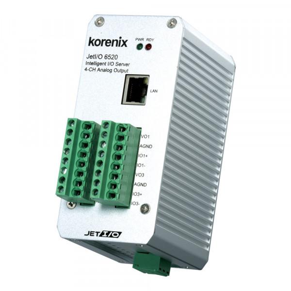 JetI/O 6520 Intelligent 4-CH Analog Output Ethernet I/O Server