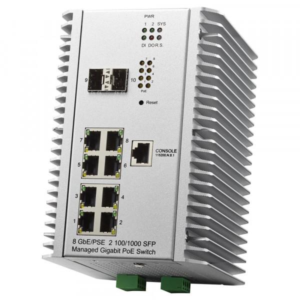 JetNet 7310G Industrial 10 ports Gigabit Managed PoE Switch