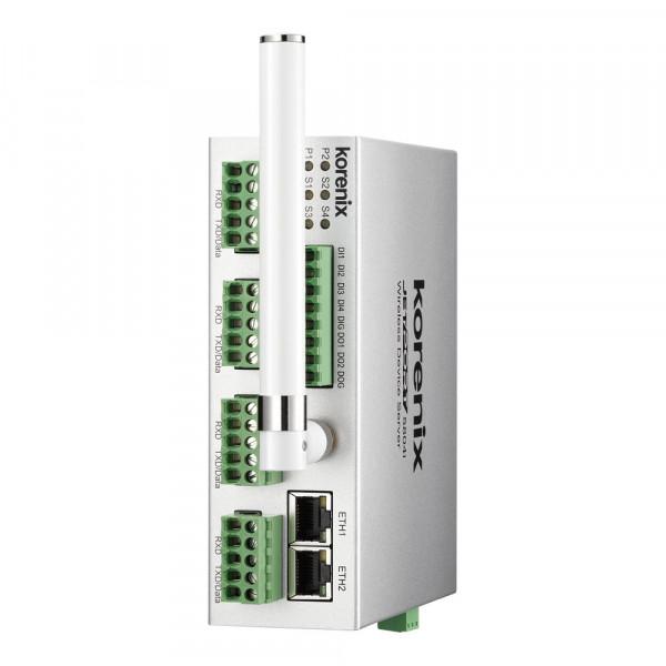 JetPort 5804i 4-Port Isolierter redundanter kabelloser serieller Geräteserver mit Fiberglass-Antenne