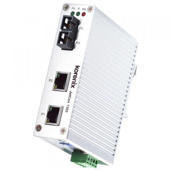 JetCon 1302-mw 2-Port schneller Ethernet zu Fiber-Mediakonverter