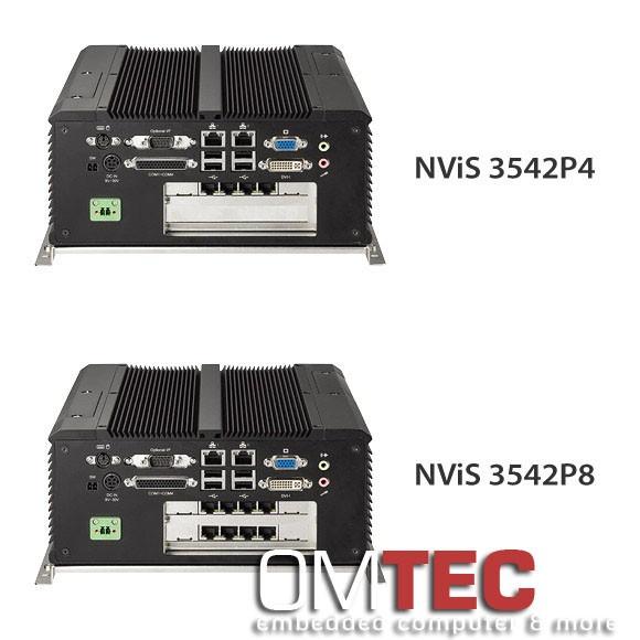 NEXCOM NViS 3542P4/3542P8 Rückansicht