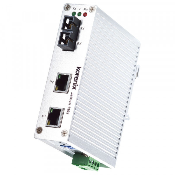 JetCon 1302-s 2-Port schneller Ethernet zu Fiber-Mediakonverter