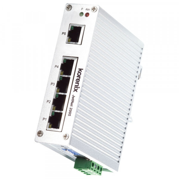 JetNet 2005 Industrial 5-port Compact Fast Ethernet Switch