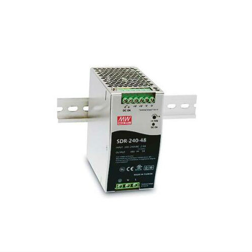 SDR-24048 240W 48 VDC DIN-Rail Power Supply, 124-370 VAC