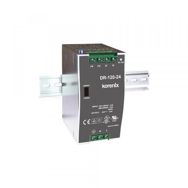 DR-120-24 120W 120W 24 V DC DIN-Rail Energieversorgung, 88-132V AC/176-264V AC
