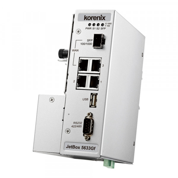 JetBox 5633Gf-w Industrieller VPN Routing-Computer mit GbE/SFP, Seriell