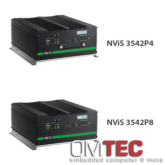 NViS 3542P4/3542P8, In-Vehicle Mobile NVR Surveillance System with Intel® Core™ i5/i7 Processor, 4/8