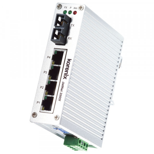 JetNet 2005f-m Industrial 5-port compact fast ethernet fiber switch