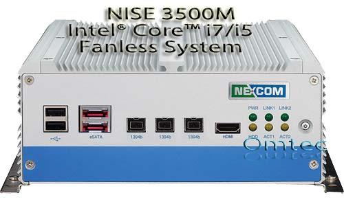 NISE 3500M, Intel® Core™ i7/i5 - lüfterlos - IEEE 1394b, eSATA, HDMI