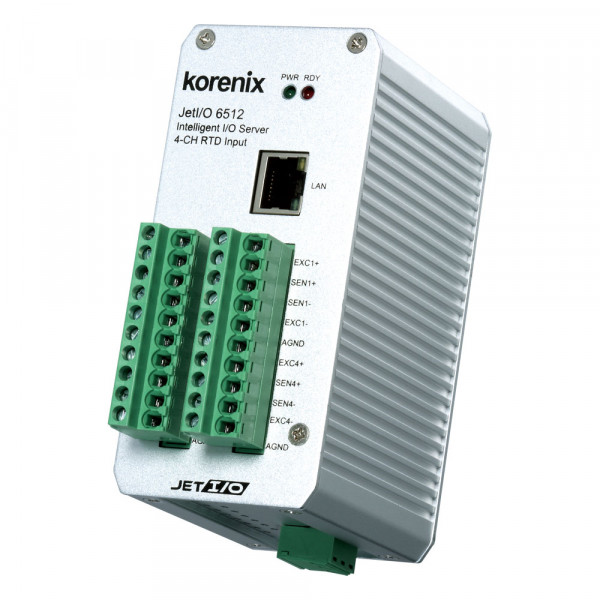 JetI/O 6512 Intelligenter 4-Kanal RTD Input Ethernet I/O Server