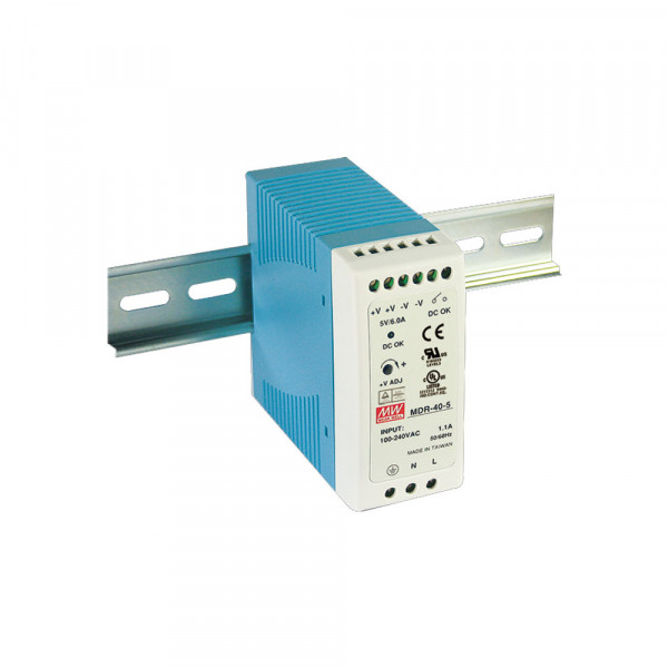 MDR-40-24 40W 24 VDC DIN-Rail Power Supply, 85-264 VAC