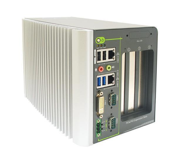 Nuvo2421- Intel® Celeron® Bay Trail J1900 lüfterloser IPC mit 2x PCI, 1x PCIe und 4xSlots
